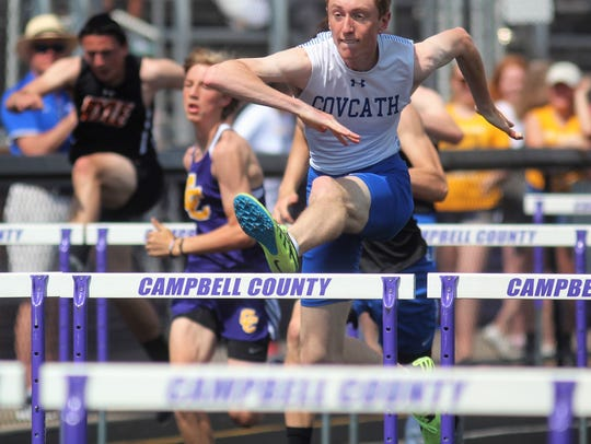 Covington Catholic senior Drew Hummel wins the 110
