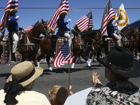 A parade kicks off the annual Western Days celebration