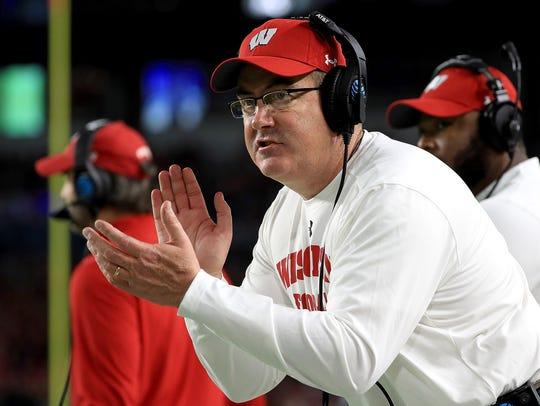 Wisconsin football coach Paul Chryst.