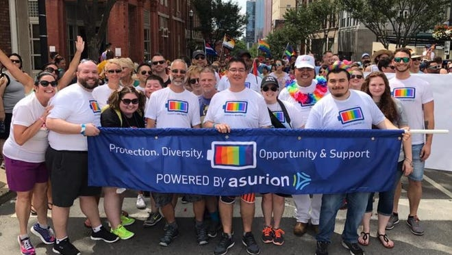 Asurion's Pride Employee Resource Group held membership drives at 11 Asurion sites, grew its membership by 36 percent, and participated in the Nashville Equality Walk during National Pride Month.