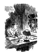 "An illustration of ""Seckatary Hawkins"" by Carll B. Williams."