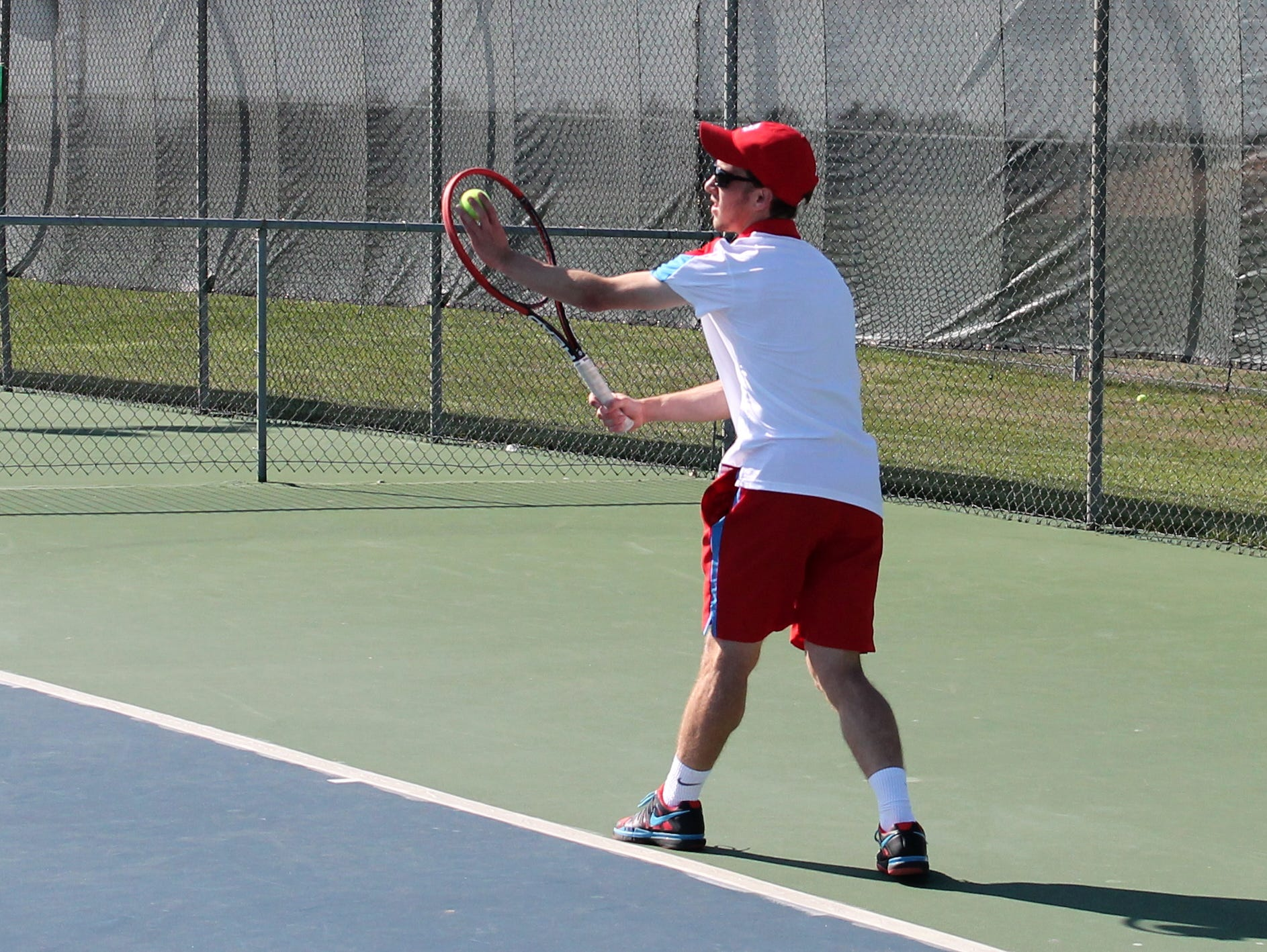 Glendale No. 2 singles player Hayden Fulk.