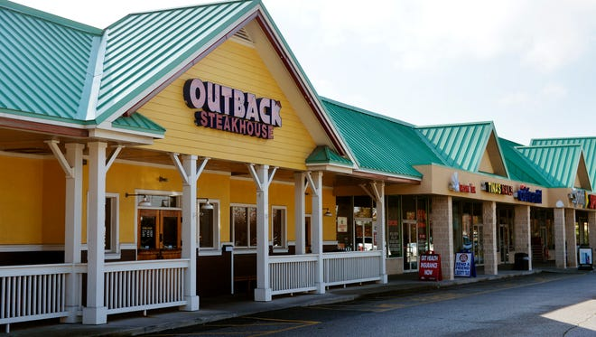 Outback Steakhouse is pictured Thursday, Oct. 5, 2014, in Springettsbury Township. The restaurant, which has been located on East Market Street for more than 10 years, will move to the West Manchester Town Center in summer 2016.