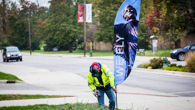 Ball State kicked off the unveiling of its new brand by placing banners along university streets and on campus buildings Saturday.