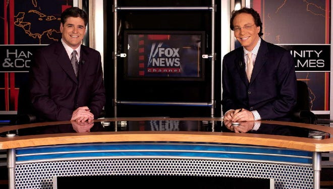 """Alan Colmes, right, sparred with more conservative co-host Sean Hannity for years on the Fox News Channel show """"Hannity & Colmes."""""""