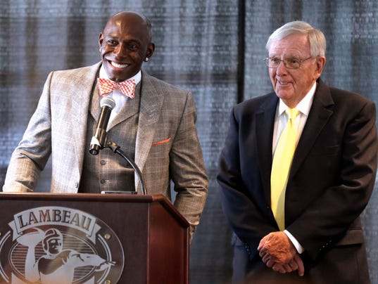 Donald Driver and Ron Wolf