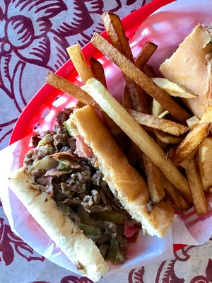 The steak bomb, with shaved rib eye, peppers, onions, mushrooms and salami, is the biggest seller at Wicked Good Deli in Fort Myers.