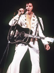 Elvis Presley, shown here in 1973, performed one of his last shows in Des Moines shortly before his death in 1977.