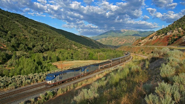 The closest Amtrak comes to a luxury/historical train trip is the California Zephyr between Chicago and Emeryville, near Berkeley.