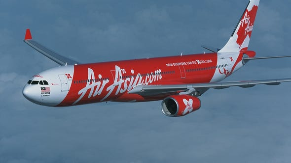 This undated handout photograph released by Air Asia X on May 28, 2011, shows an Airbus A330-300 for AirAsia X plane.