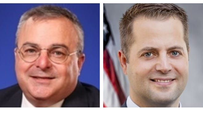 Republican David DeCoste, left, is running against Democrat Emmanuel Dockter for State Representative in the Fifth Plymouth District.