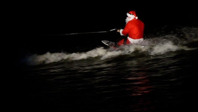 A wakeboarding Santa will be part of Saturday's annual Christmas on the Coosa in Wetumpka.