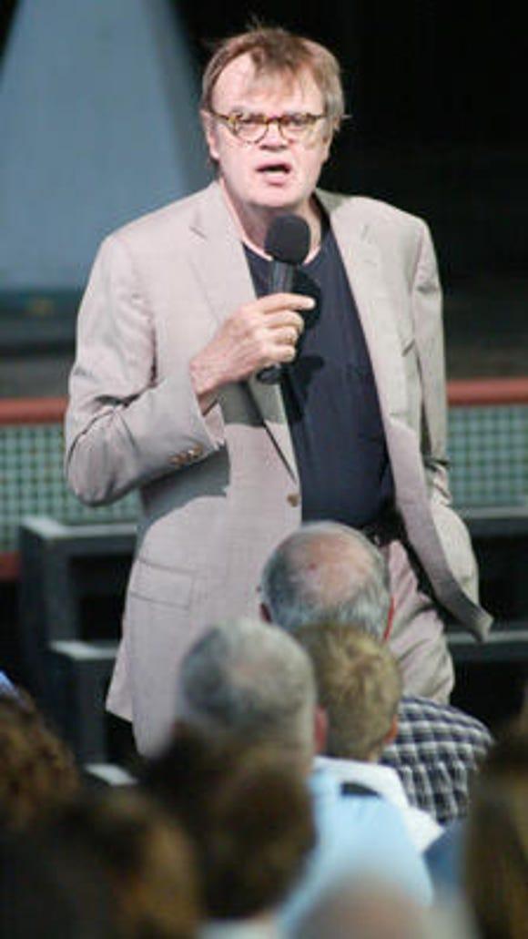 Garrison Keillor at Riverbend in 2009.