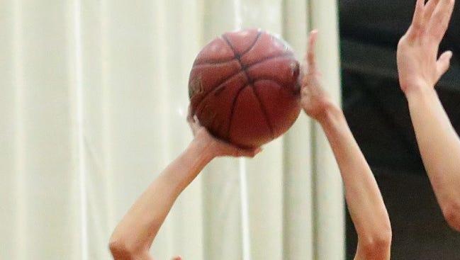 Basketball action.
