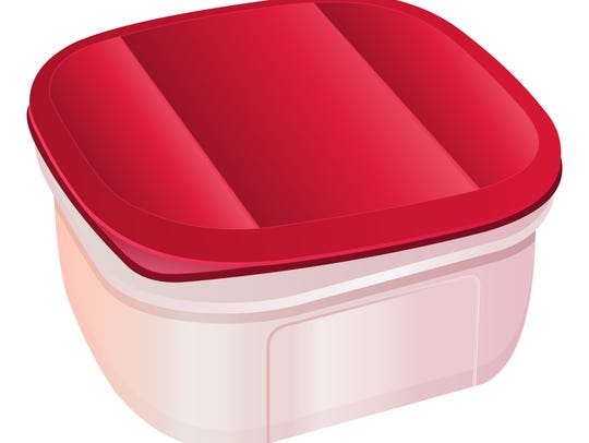 A plastic container is a perfect gift for a 2-year-old