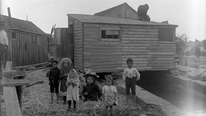 Portuguese Navy Yard, 1905. Reproduction from glass plate negative.