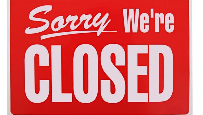 Stock photo of closed sign.