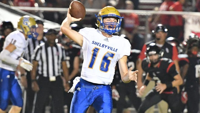 Shelbyville quarterback Grayson Tramel threw for a state record 606 yards in a loss to Summit earlier this season.