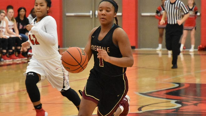 Riverdale sophomore Alasia Hayes scored 17 points in the Lady Warriors' 60-38 win over Flossmoore (Ill.) in the first round of the Nike Tournament of Champions Tuesday.