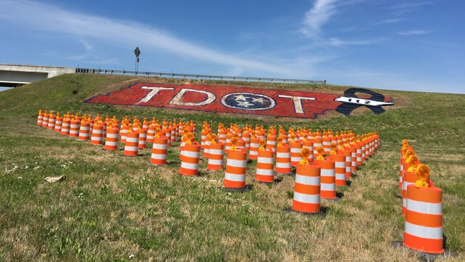 Tennessee Department of Transportation has placed 112 barrels on their exit ramp on Interstate 40 in memory of 112 employees killed in the line of duty since 1948.