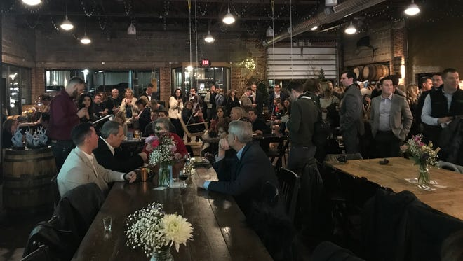About 200 downtown enthusiasts turned out for the annual Downtown Awards Thursday, Feb. 1 at Missouri Spirits on Walnut Street.