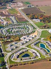 An aerial view of the Centennial Centre development