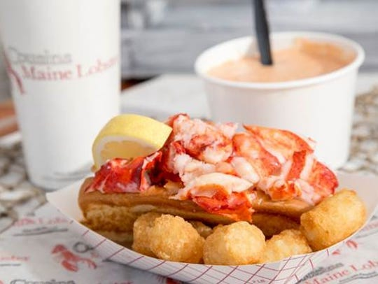 The Maine lobster roll from Cousins Maine Lobster: