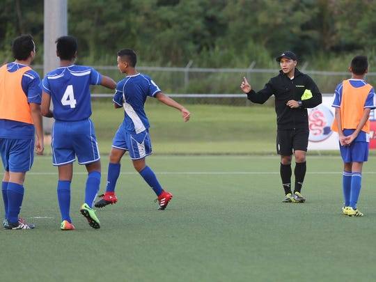 Guam U16 Boys National Team assistant coach Mark Chargualaf,