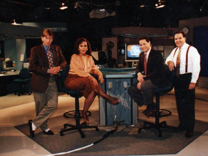 """By John Kiesewetter / jkiesewetter@enquirer.com  Nineteen years ago, Fox 19 changed viewing habits for thousands of residents here by offering us the city's first """"Ten O'Clock News.""""  WXIX-TV's start-up news operation debuted on Oct. 18, 1993, with anchors Jack Atherton and Phyllis Watson, meteorologist Rich Apuzzo and sports anchor Greg Hoard.  Only Tricia Macke from the original news team has been seen all 19 years.  Here's a look back at some of Fox 19's most recognizable news, weather and sports personalities through the years.  1994: The original anchor team: (L-R) Sports director Greg Hoard, co-anchors Phyllis Watson and Jack Atherton, and meteorologist Rich Apuzzo."""