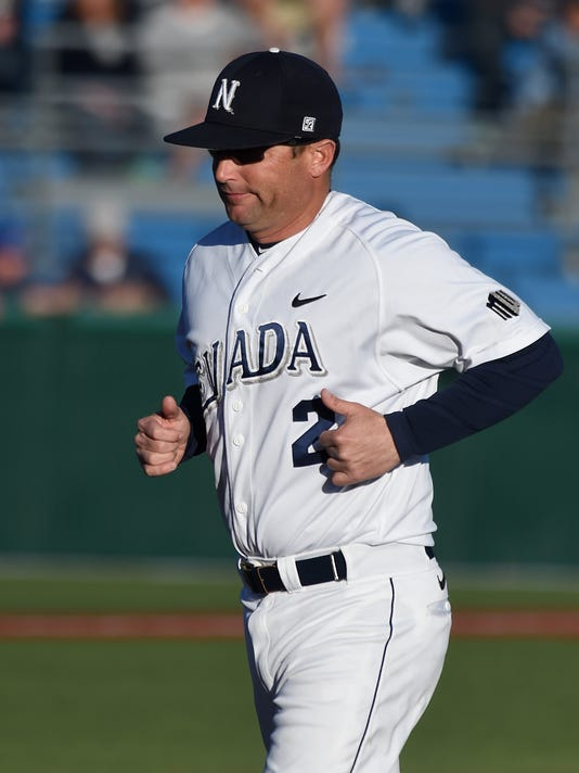 Nevada baseball head coach Jay Johnson