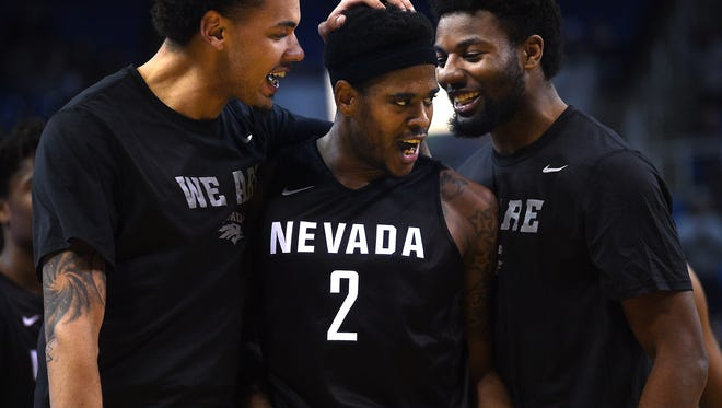 Nevada's Tyron Criswell was named the Wolf Pack's top male senior.