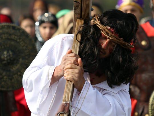 Jose Hernandez and other actors recreated Jesus' 2,000