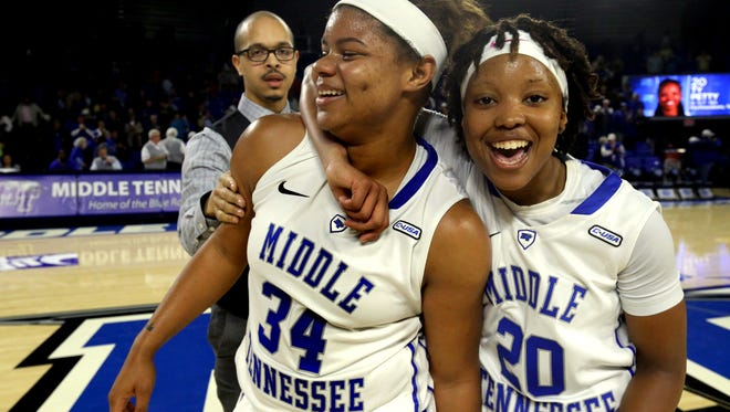 MTSU's Olivia Jones and Ty Petty look to be the Lady Raiders' leaders this season.