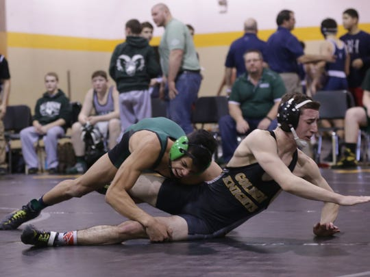 Northmor's Aaron Kitts heads into the Elite Eight of the state dual team tournament off an Outstanding Wrestler performance at the Sally George Invitational.