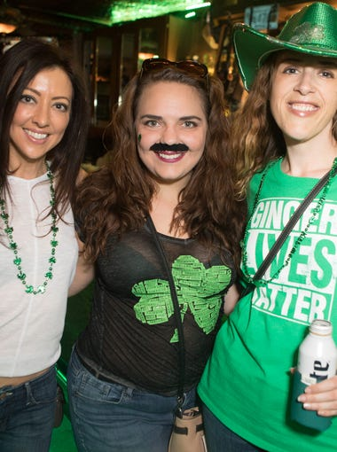 Seamus McCaffrey's Irish Pub & Restaurant hosted a block party downtown where hundreds partied on St. Patrick's day on Saturday, March. 17, 2018 in Phoenix.
