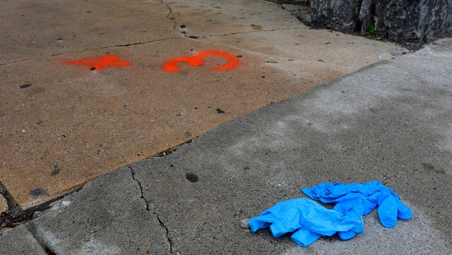 A man was found shot to death at S. Duke and South Streets early in the morning Sunday, April 15, 2018.  John A. Pavoncello photo