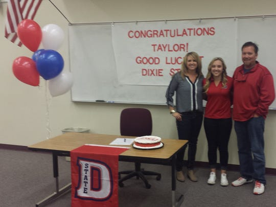 Pine View's Taylor Bandley signed her National Letter of Intent with Dixie State on Monday. Bandley placed second in last year's 3A state golf tournament.