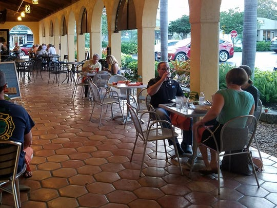Emman's Asian Gourmet's outdoor dining area. TheAsian fusion restaurant is in Suite 105 at 555Colorado Ave. in Stuart.