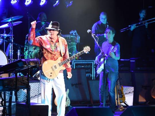 Carlos Santana plays the Bardavon 1869 Opera House in the City of Poughkeepsie. on April 10, 2016.