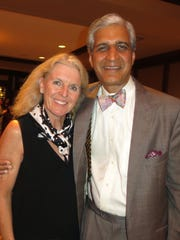 Laura and Dr. Anil Nanda at Neurosurgery Reception.