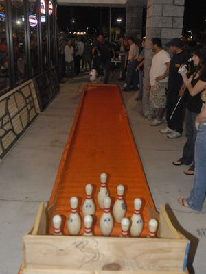 Siggy's in Palm Bay hosts turkey bowling every year on Black Wednesday.