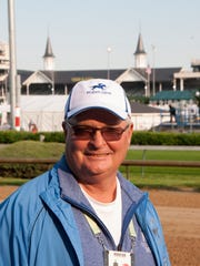 Dennis Albaugh at Churchill Downs the morning before Brody's Cause will run in the Kentucky Derby.