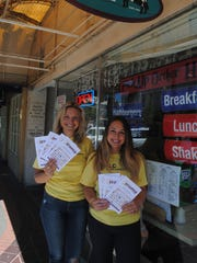 """Lillian Kay, left, and Mercedez Schluckebier, shared news about a new downtown event called """"Untapped."""""""