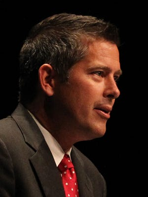 U.S. Rep. Sean Duffy spoke at the grand opening celebration of the David R. Obey Civic Resource Center at the University of Wisconsin/Marathon County, Wednesday, September 3, 2014, in Wausau.