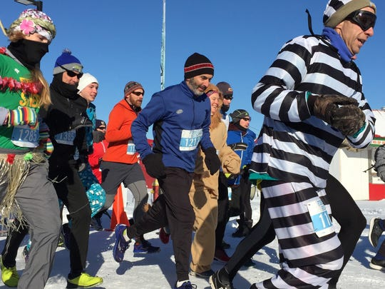 The FirstRun 5K brought out about 225 runners to brave sub-zero temperatures, about half of the 450 people who originally registered.