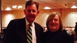 City Court Judge Chuck Crimi and Alan Harris at the celebration.