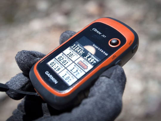 GPS reading near the top of a ski line on the ridge leading to Wheeler Peak on Saturday June 10th 2017, at Great Basin National Park near Baker NV.