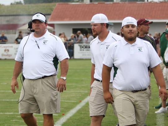 Greenbrier coach John Elmore, left.