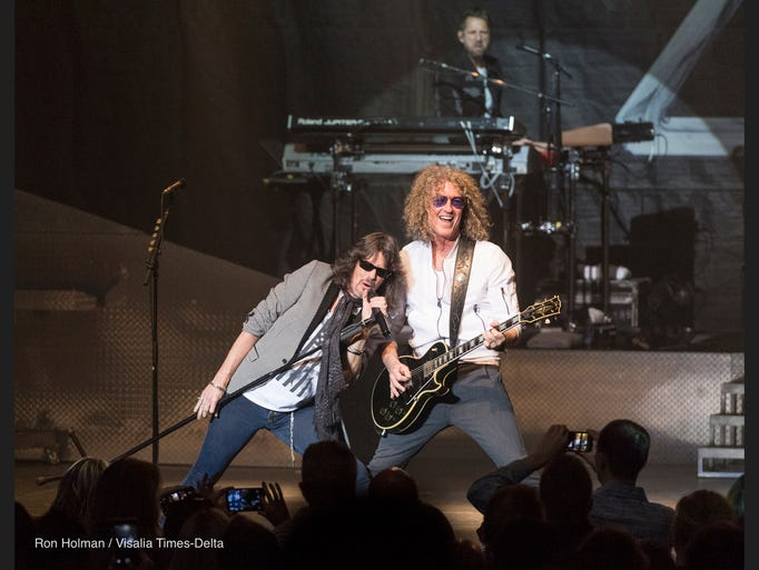 Foreigner performs to a sold out crowd at the Visalia