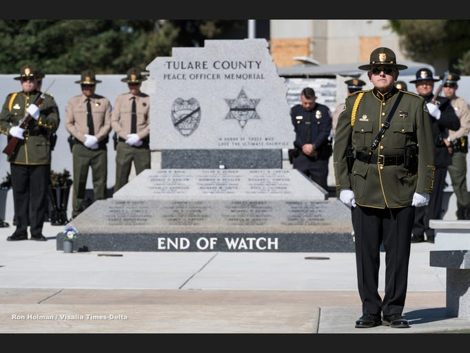 Tulare County Peace Officer Memorial Ceremony on Wednesday,